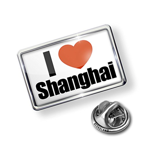 Pin I Love Shanghai region: of China, Asia - Lapel Badge - NEONBLOND for cheap