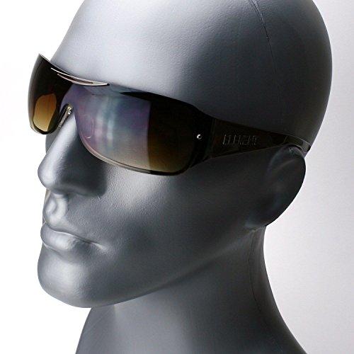 Shield Brown Lens - Gunmetal Brown Lens Classic Retro Shield Men Women Fashion Vintage Designer Sunglasses