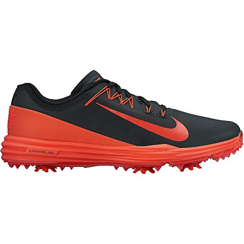 Nike Mens Lunar Command 2 Golf Shoes, Black/Max Orange, 12 M US ()