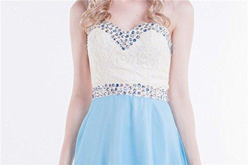 Beauty Emily Strass Blau Arm Liebsten Ohne Abendkleider trägerlos Lace rrdaCqw