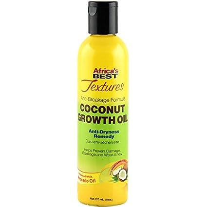 Africas mejor texturas anti-breakage fórmula crecimiento de coco aceite 237 ml