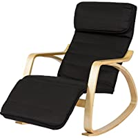 BCP Wood Recliner Rocking Chair W/ Adjustable Foot Rest Comfy Relax Lounge Seat