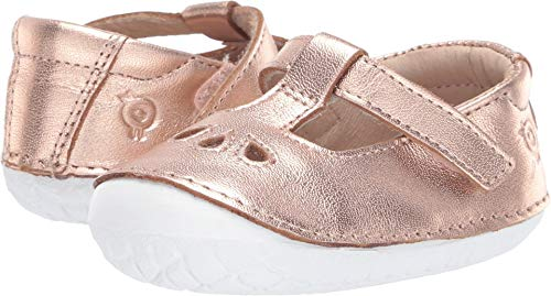 - Old Soles Girl's Classic Pave Premium Leather First Walker Sneaker Shoes (Copper, 23 M EU/7 M US Toddler)
