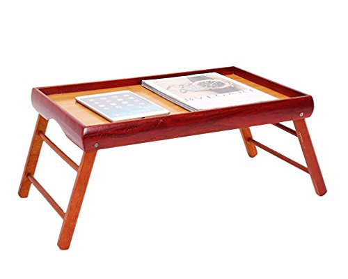 Dinner Tray - Wooden Breakfast in Bed Foldable Portable Serving TV Table with Stand - 20.5 '' by Juvale (Image #3)