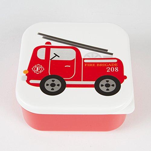 """Boîte à sandwiches carrée """"feuerwehr"""" - 12 cm"""