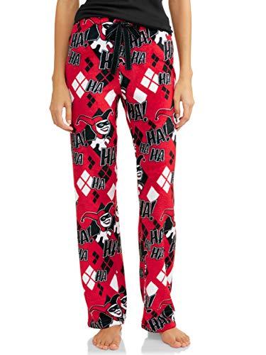 DC Comics Harley Quinn Women's Superminky Fleece Lounge Sleep Pants (Medium 8/10) -