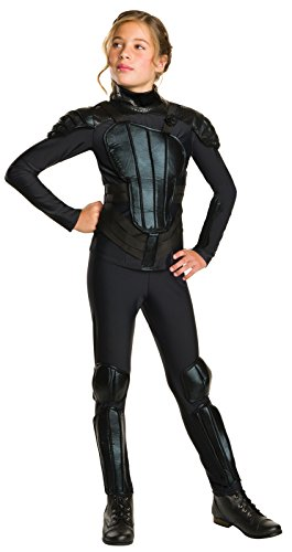 Rubie's Costume Rebel Mockingjay Part 1 The Hunger Games Deluxe Katniss Costume, Medium, One (Katniss Everdeen Costume Dress)