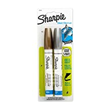 Sharpie PAINT Marker Paint, Water-Base Marker Medium, 2-Carded, Metallic Assorted (36968PP)