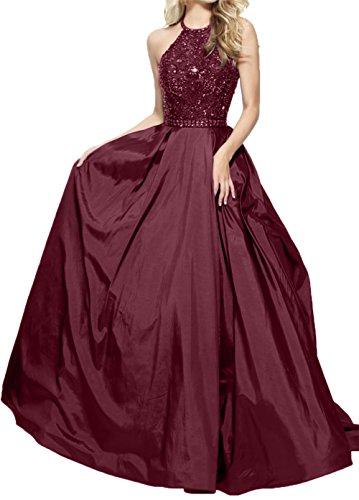 Abendkleider Promkleider linie Jugendweihe Rock Prinzess Kleider Damen Blau Perlen Royal A Charmant Pailletten Burgundy Pailletten xzBqY1Fcw