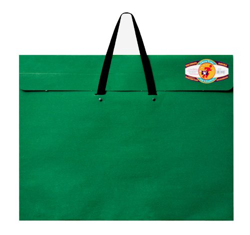 Star Products Classic Dura-Tote Portfolio 20-Inch by 26-Inch, Green with Reclosable Fastener (Star Products Dura Tote)
