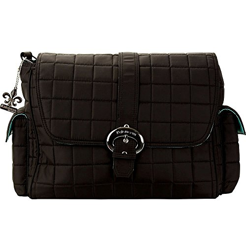 Kalencom Quilted Buckle Diaper Bag in Black