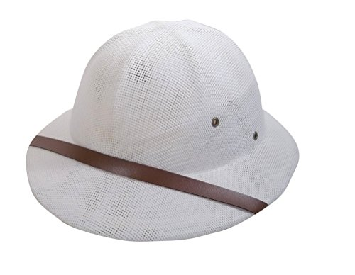 Jacobson Hat Company Men's Pith Helmet, White, Adult]()