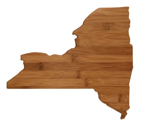 "Totally Bamboo State Cutting & Serving Board – ""NEW  YORK"", 100% Organic Bamboo Cutting Board for Cooking, Entertaining, Décor and Gifts. Designed in the USA!"