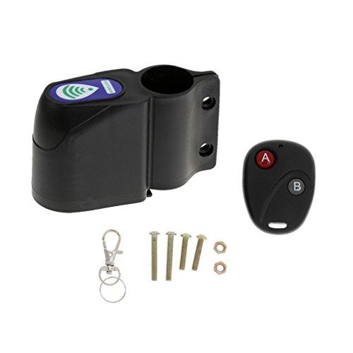 Sharplace Alarme Sonore Electrique pour Vélo Sirène Imperméable à L'eau Accessoire Antivol pour Bicyclette