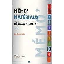Memo materiaux 2e hors collection