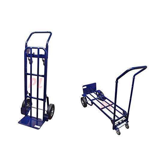 Heavy-Duty-2-in-1-Appliance-Hand-Truck-Dolly-Cart-Moving-Mobile-Lift-4-Wheels