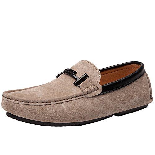 Zapatos Hombre de Mocasines Caqui Casual Conducción Stutio Cuero On Slip Zapatillas SK de Loafers z5UvA6q