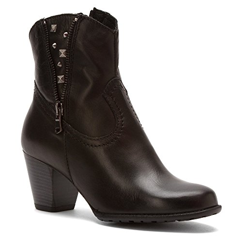 Black Boot Kiki Napa On Pull Womens Fashion Zipper Flex Owqf7xA