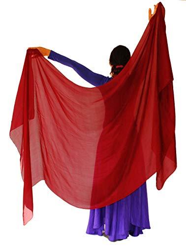 4d3d4a8c3 Nahari Silks Womens 100% Silk Dance Scarves Shawls Wraps Solid Colors Deep  Red 82