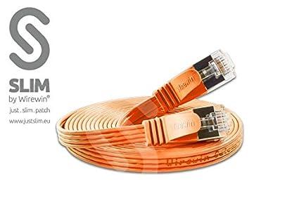 WIREWIN Slim STP câble de réseau 5 m Cat6 S/UTP (STP) Noir - Câbles de réseau (5 m, Cat6, S/UTP (STP), RJ-45, RJ-45, Noir) PKW-STP-SLIM-KAT6 5.0 SW