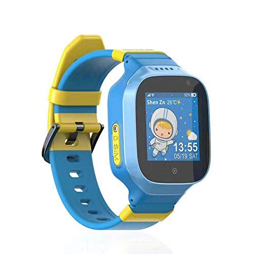 Waterproof 3G GPS Watch for Kids, Tycho Phone Call SOS Real-time Anti-Lost GPS Tracker, Children Touch Screen Camera Geo-Fence Step Counter Text Voice Message Remote Monitor GPS Smart Watch