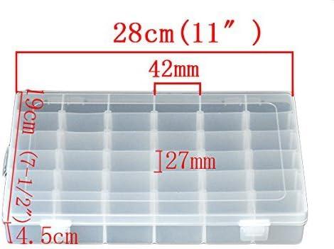Ajustable /À Usages Multiples Transparente by 36 Compartiments Xenborg Bo/îte De Rangement///À Bijoux///À Outils en Plastique