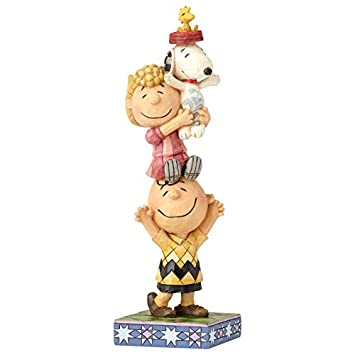 Enesco Peanuts by Jim Shore Charlie Brown and Friends You Lift Me Up Figurine, 7.25 , Multicolor