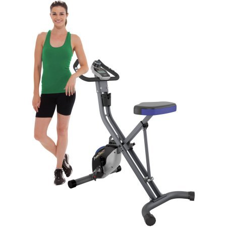 FITNESS REALITY U2500 Foldable 400-lb Weight Capacity Upright Exercise Bike With Magnetic...