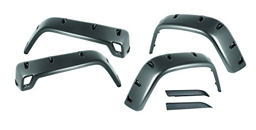 Rugged Ridge 11630.10 Black ABS Plastic Stainless Hardware All-Terrain Fender Flare Kit - 6 Pieces