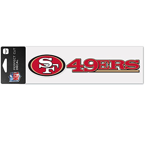 - WinCraft NFL San Francisco 49ers WCR49141014 Perfect Cut Decals, 3