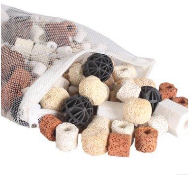 Bio Balls,Govine 500g Bio Balls Aquarium Pond Fish Tank Filter Ceramic Rings Filtration Media by Govine