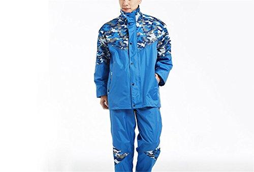 Adulto Moto Pesca Blu Maschio Femmina Pantaloni Mimetica Tuta Impermeabile Rosso Pioggia Rfvbnm Xl Divisa Equitazione All'aperto L Impermeabile wn8Xq1AS