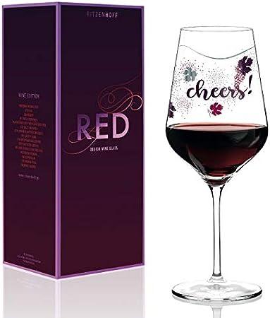 Elegante diseño de copa de vino tinto con preciosas piezas de platino decoradas.,Dimensiones: altura