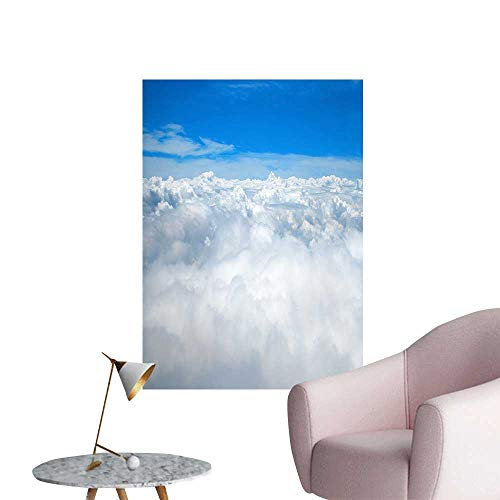 "SeptSonne Wall Art Prints Grand and Magnificent White Clouds for Living Room Ready to Stick on Wall,16"" W x 24"" L"