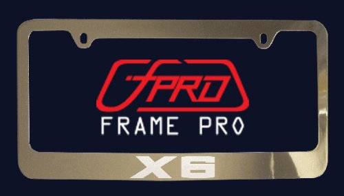 bmw-x6-license-plate-frame-zinc-metal