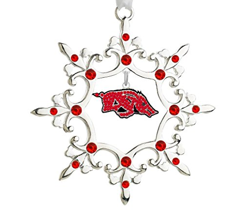Final Touch Gifts University of Arkansas Rhinestone Christmas Ornament ()