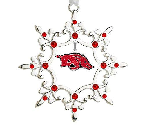 Final Touch Gifts University of Arkansas Rhinestone Christmas Ornament