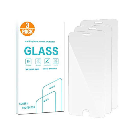 iPhone 8/7 Screen Protector Glass, Pehael [High Definition Clear][2.5D Round Edge][9H Hardness][3D Touch Compatible] Tempered Glass Screen Protector Only for iPhone 8 and iPhone 7 - Only Style For Glasses
