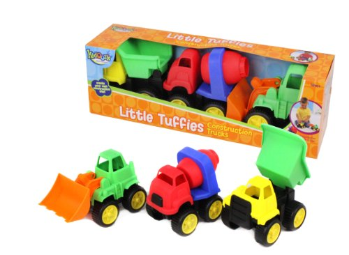 Kidoozie Little Tuffies - Teaches Beneficial Roleplay and Employs Tactile Engagement - For Ages 18 Months and Up