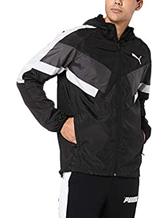 PUMA Men's Windbreaker + CB, Puma Black, L