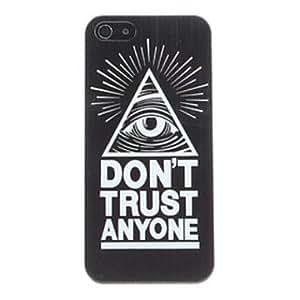 Hermosa no confían en nadie patrón pc caso duro para el iphone 4/4s