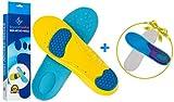 BeyondComfort Full Length Orthotic Shoe Insoles with Inside Massaging Gel Work