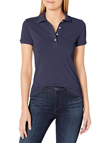 Lacoste Women's Short Sleeve Slim Fit Stretch Pique Polo Shirt