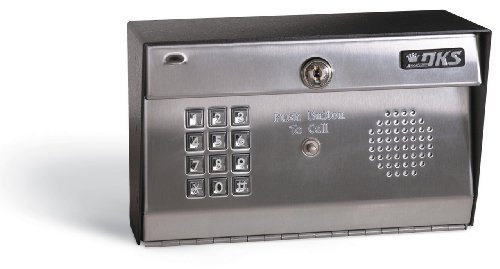 [Doorking Residential Telephone Entry System Surface Mount with Stainless Face Plate Dk1812-081] (1812 Telephone)