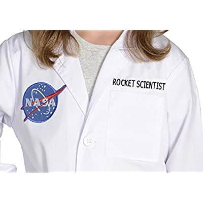 Aeromax Jr. NASA Rocket Scientist Lab Coat, White, size 6/8: Toys & Games