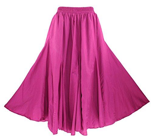 - Beautybatik Red Violet Cotton Boho Gypsy Long Maxi Godet Flare Skirt 2X