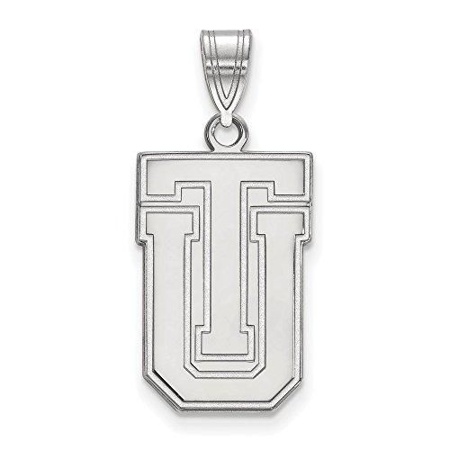 10k White Gold LogoArt Official Licensed Collegiate The University of Tulsa (TU) Large Pendant by Logo Art