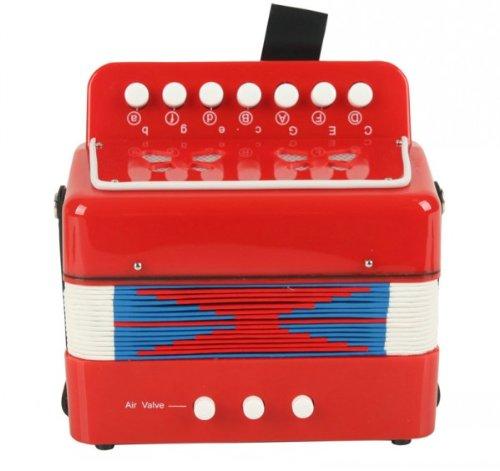 Enfants Musical Instrument de musique Accordéon Bouton Jouets Grand-Cadeau pour les enfants-Rouge Hwydo