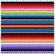 1 Yard Fiesta Stripe by Elizabeth's Studio 100% Cotton Quilt Fabric 263 (Fiesta Fabric)