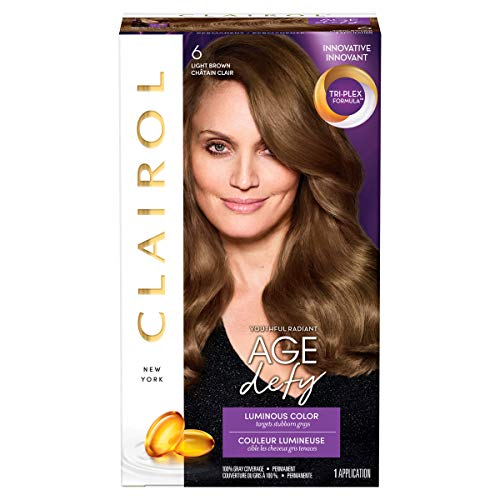Clairol Age Defy Hair Coloring Tools, 6 Light Brown